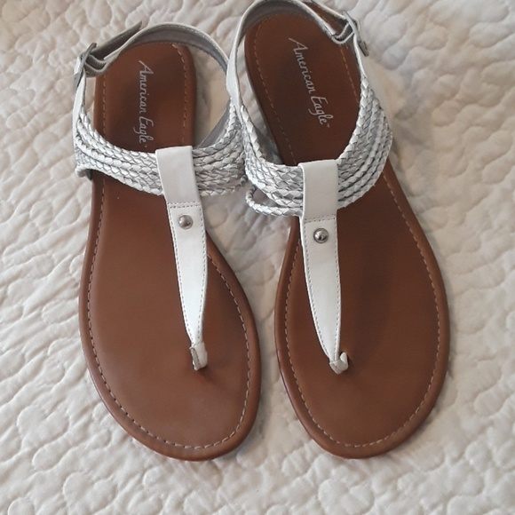 White Thong Sandals Size